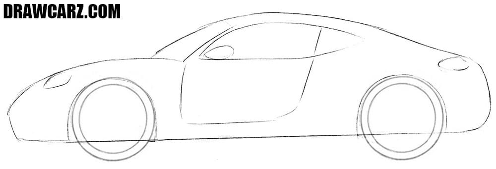 How to draw a Sports Car easy