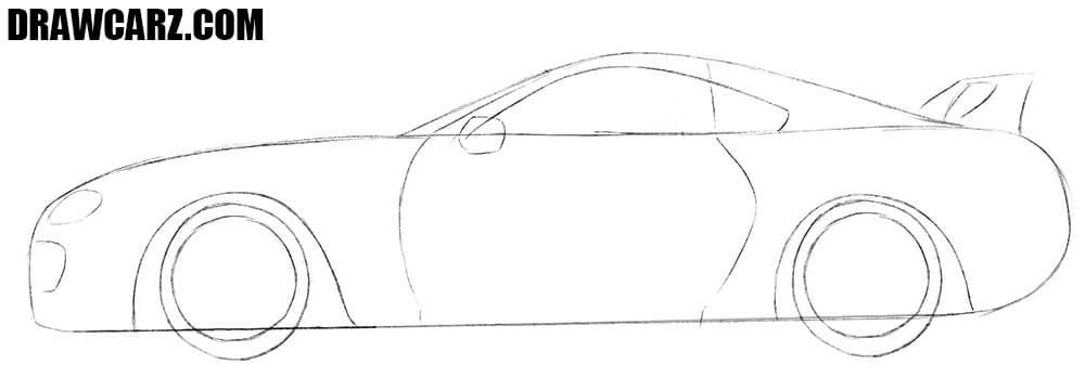 How to draw a Toyota Supra for beginners