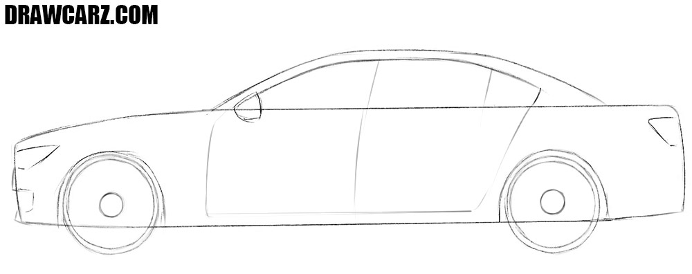 How to draw a car fast and easy