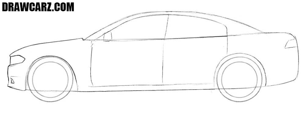 How to draw an American car