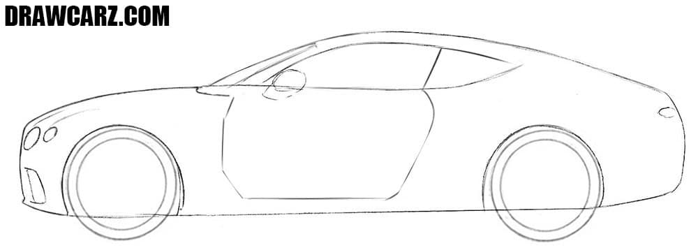 How to draw cool car