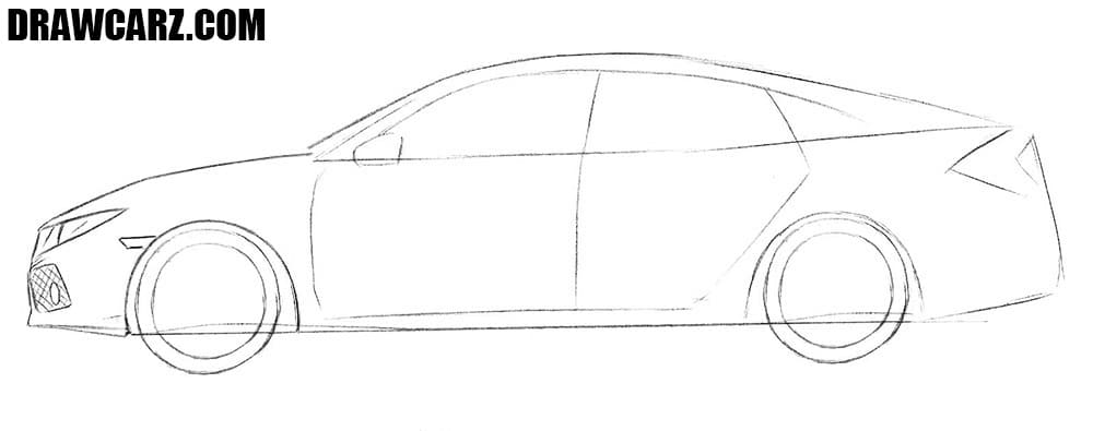 How to sketch a Honda Civic