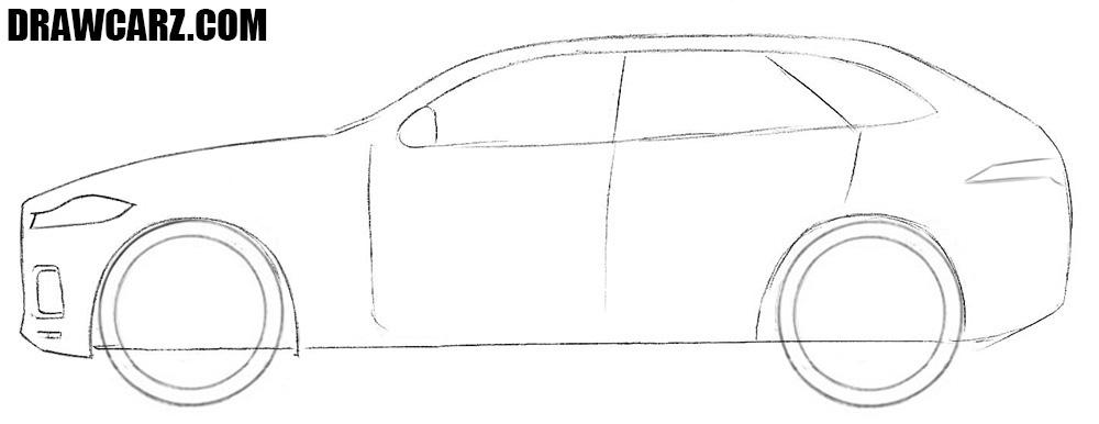 How to sketch a Jaguar