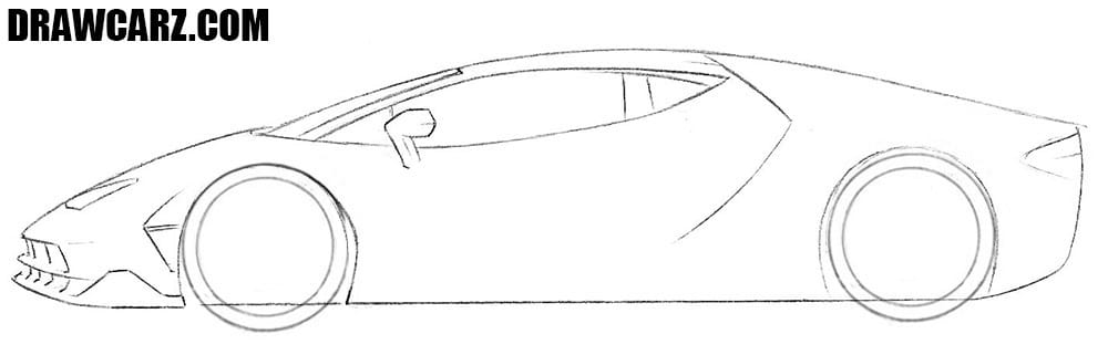 How to draw a Lamborghini Centenario step by step