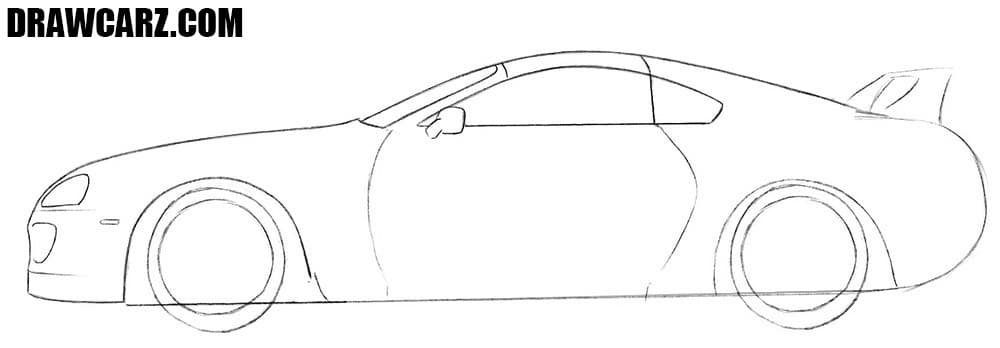 How to draw a Toyota sports car
