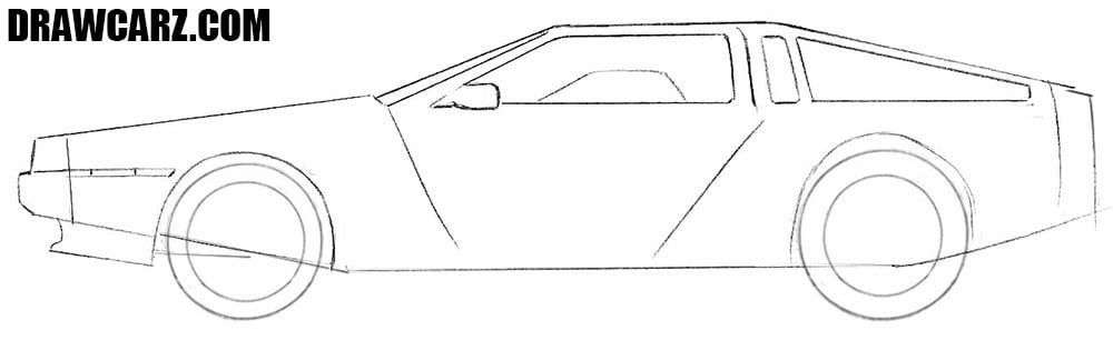 How to draw a car from 80s