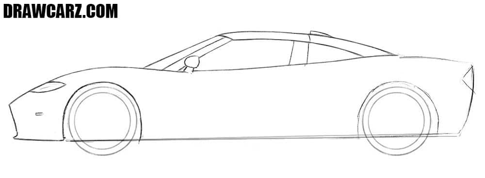 How to draw a cool classic car