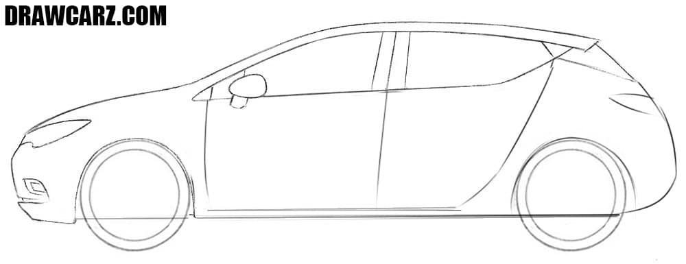 How to draw an Opel