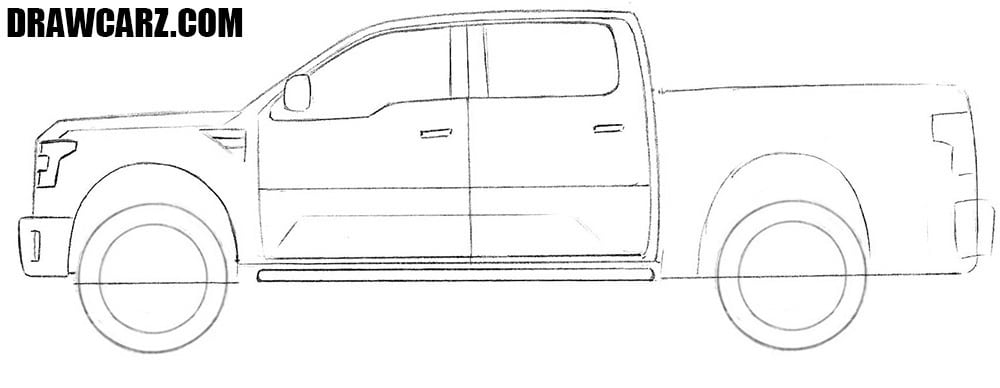 How to draw a Ford Truck