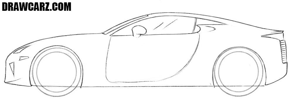 How to draw a Lexus
