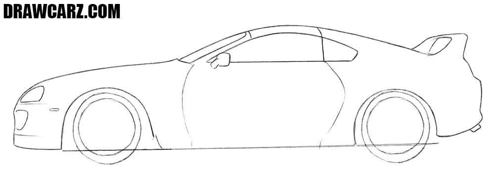 How to draw a Toyota