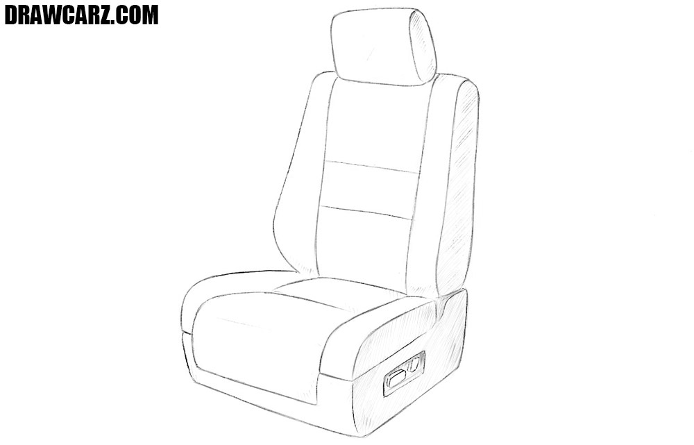 How to draw a car seat