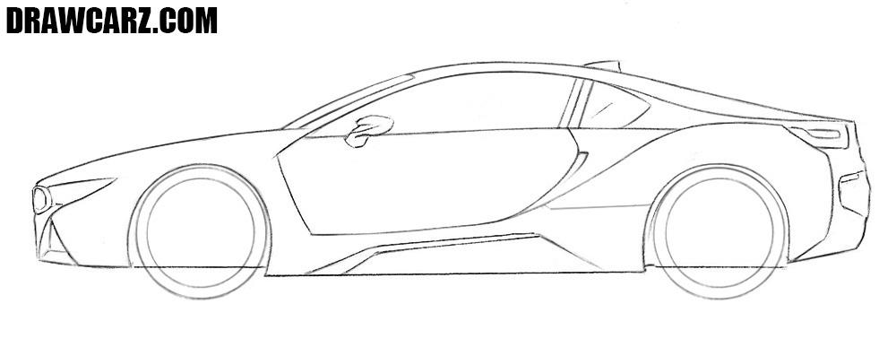 How to sketch a BMW i8