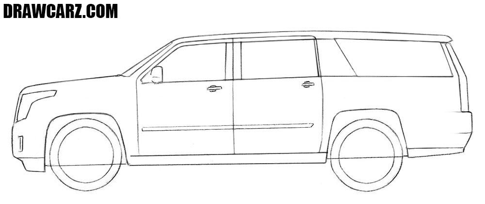 How to sketch a Cadillac Escalade