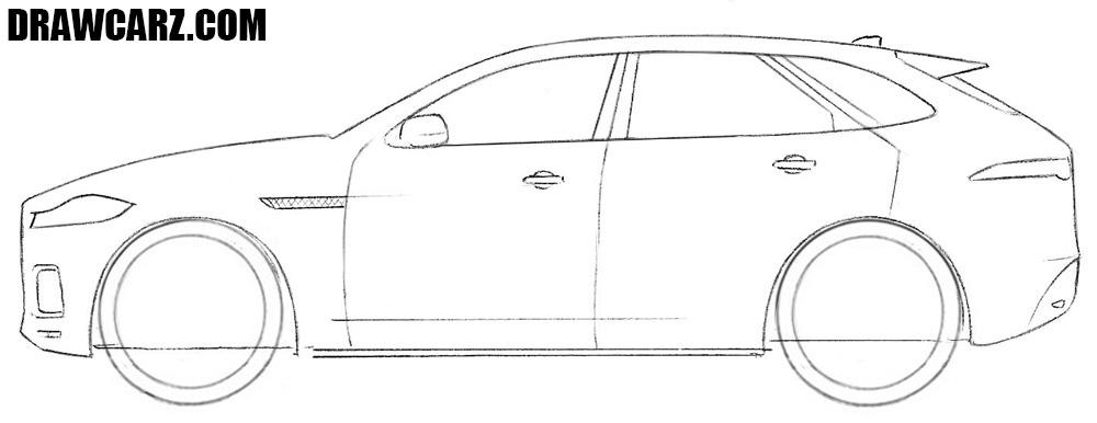 How to sketch a Jaguar F Pace