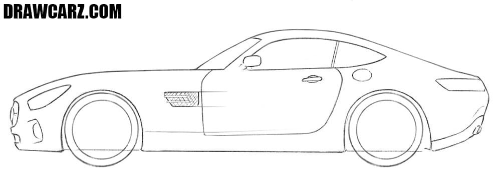How to sketch a Mercedes-AMG GT