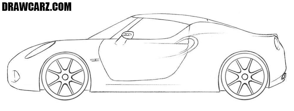 Alfa Romeo 4C drawing tutorial