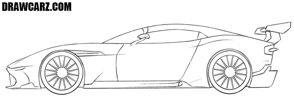 Racing Car drawing tutorial