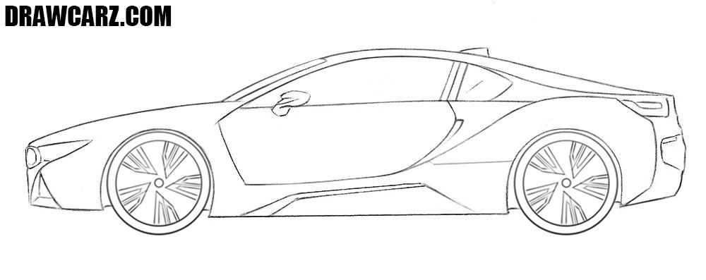 BMW i8 drawing tutorial