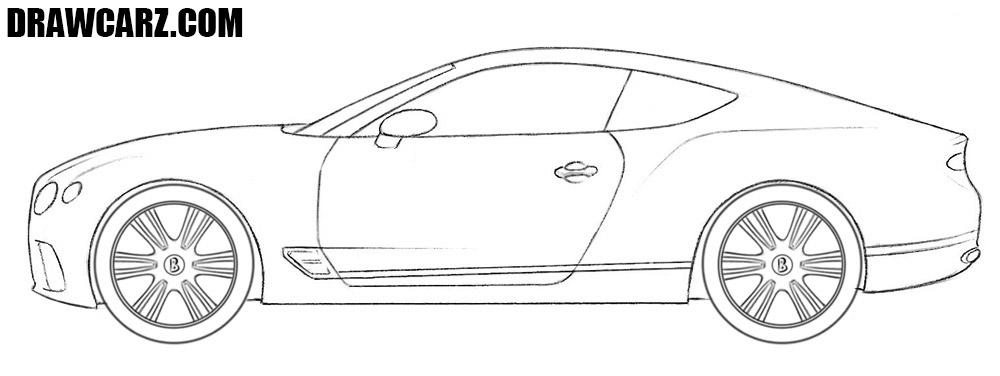 Bentley Continental GT drawing