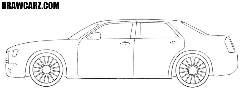 Chrysler 300c drawing tutorial