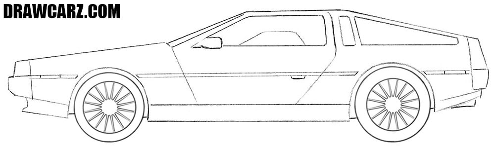 Delorean DMC drawing tutorial
