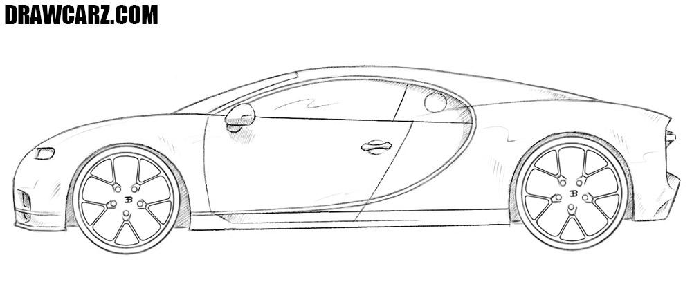 How to draw a Bugatti Chiron