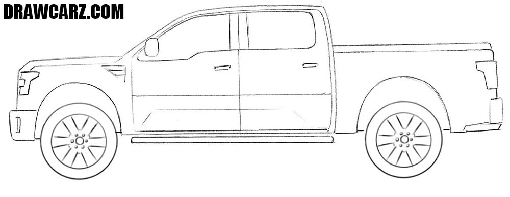 How to draw a Ford Tuscany step by step