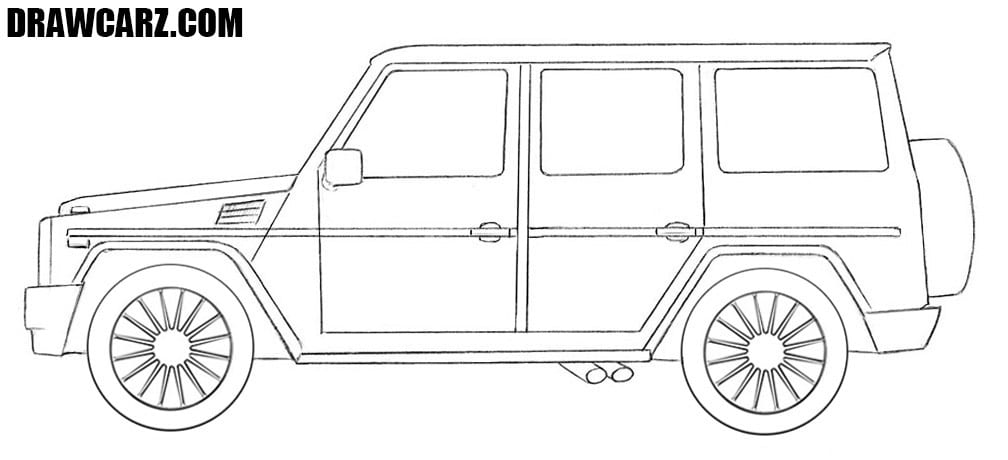 How to draw a Mercedes Gelandewagen