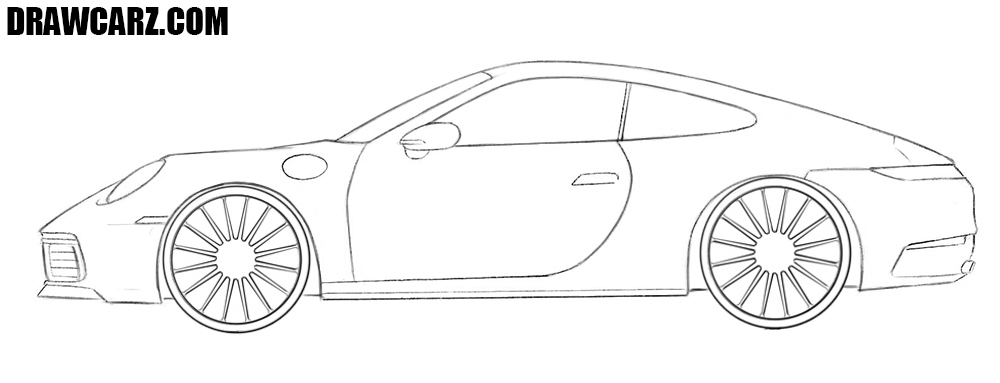 How to draw a Porsche 911 step by step
