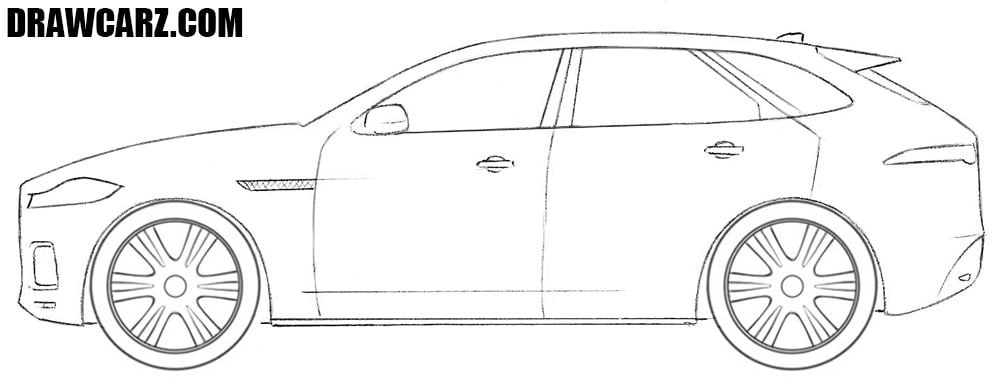 Jaguar F Pace drawing tutorial