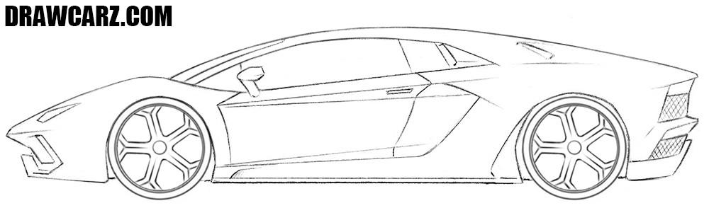Lamborghini Aventador drawing guide