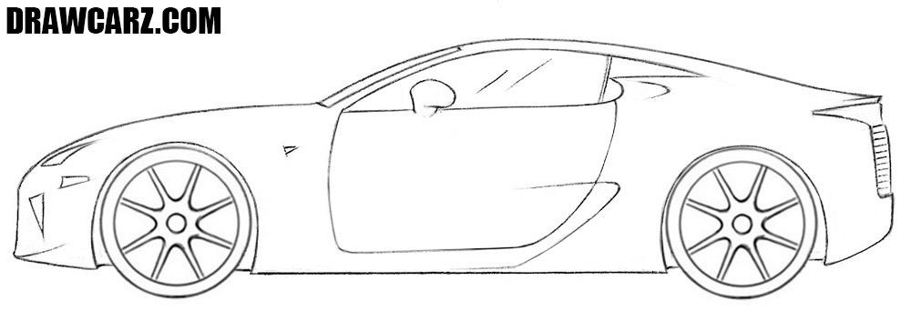 Cool car drawing tutorial