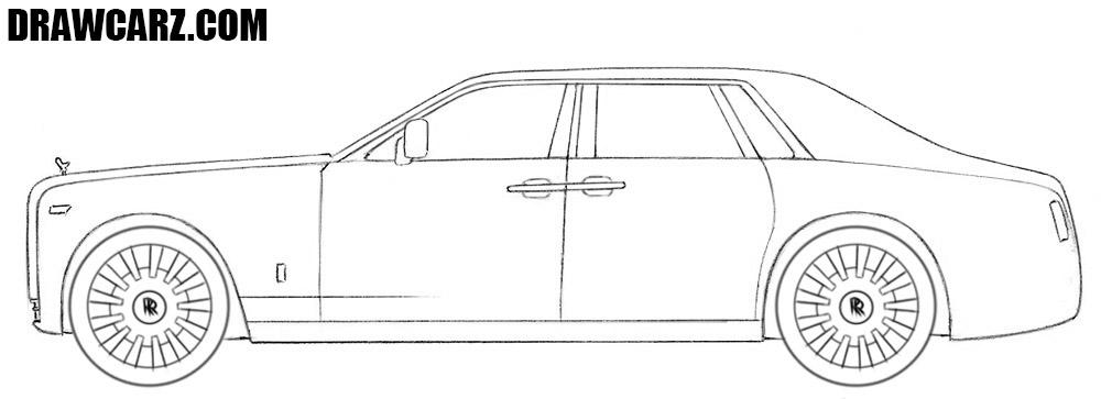Rolls Royce Phantom drawing tutorial