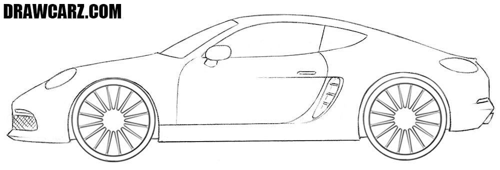 Sports Car drawing tutorial