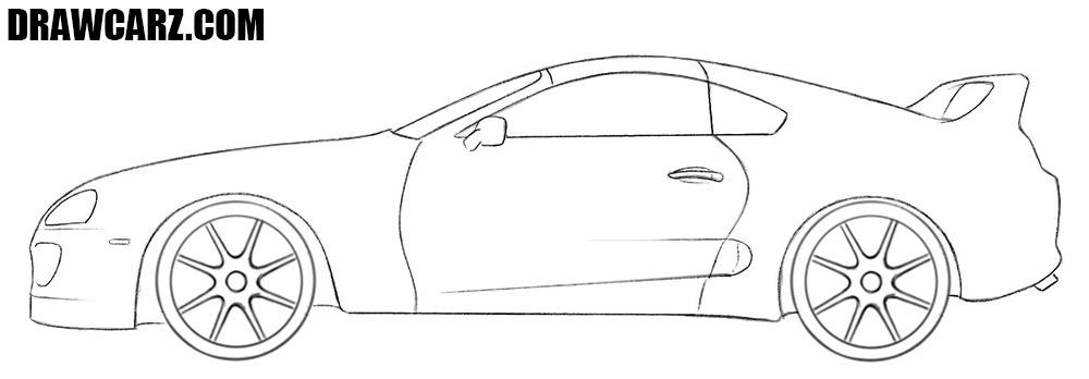 Toyota Supra drawing tutorial