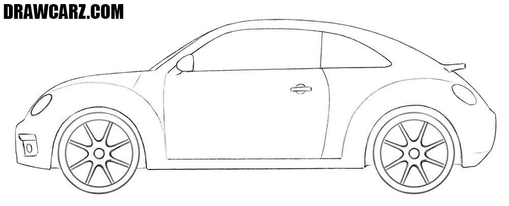 Volkswagen Beetle drawing tutorial