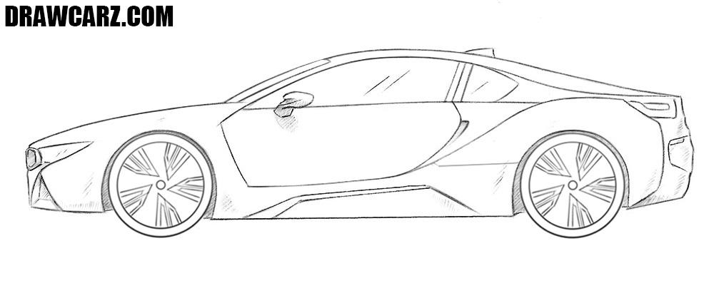 How to draw a BMW i8