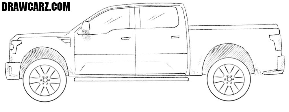 How to draw a Ford Tuscany