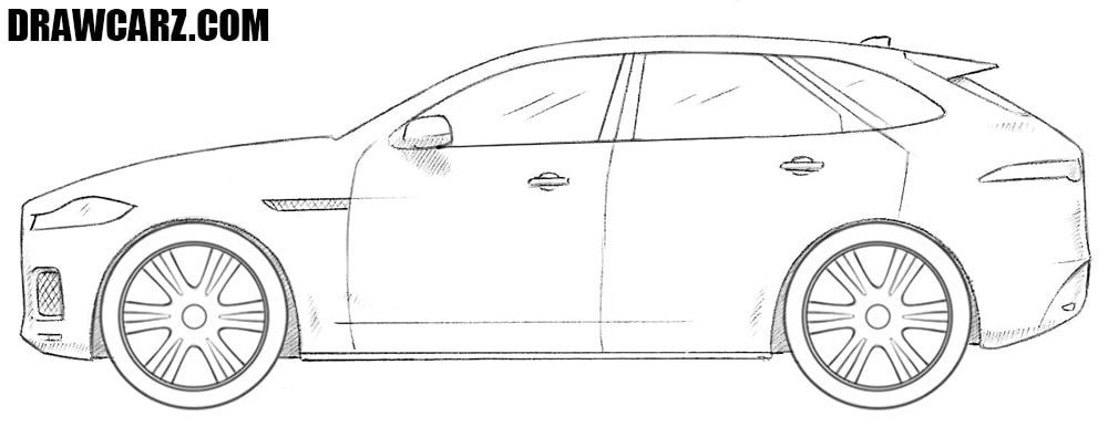 How to draw a Jaguar F Pace