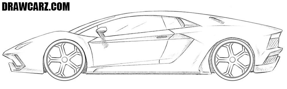 How to draw a Lamborghini Aventador