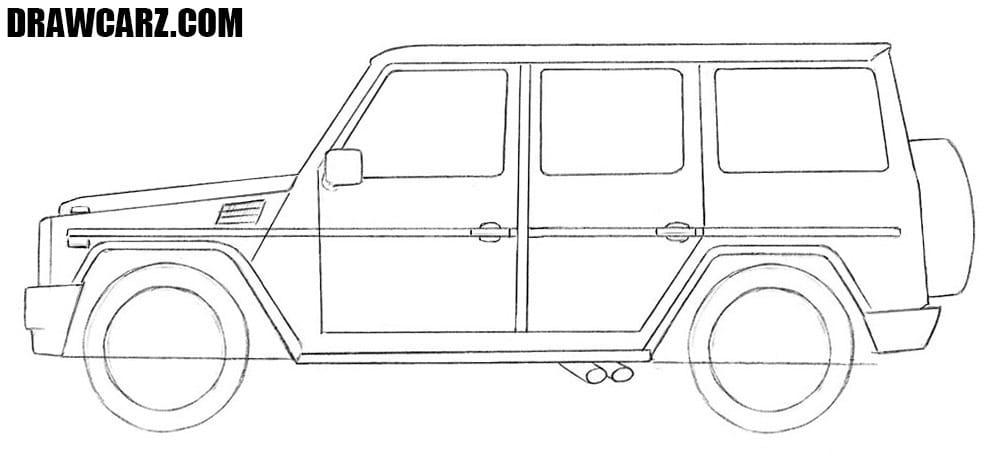How to draw a Mercedes G