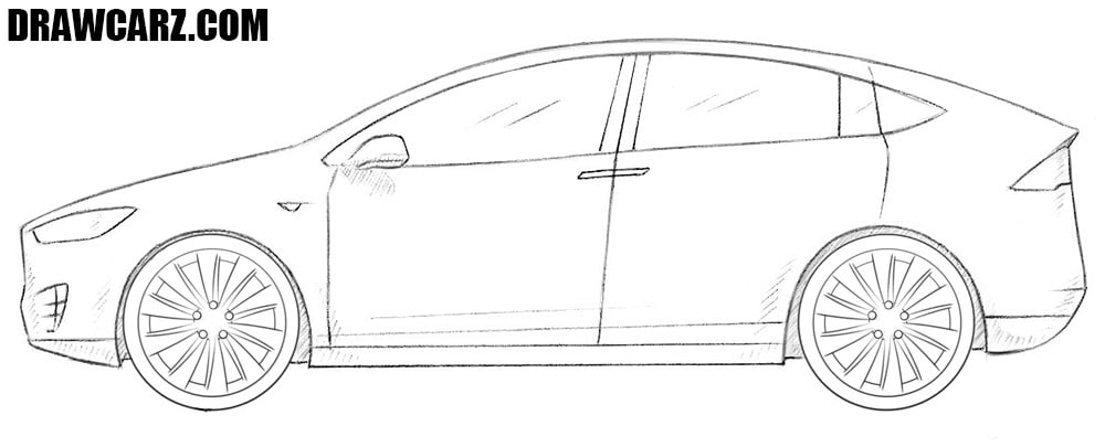How to draw a Tesla Model X