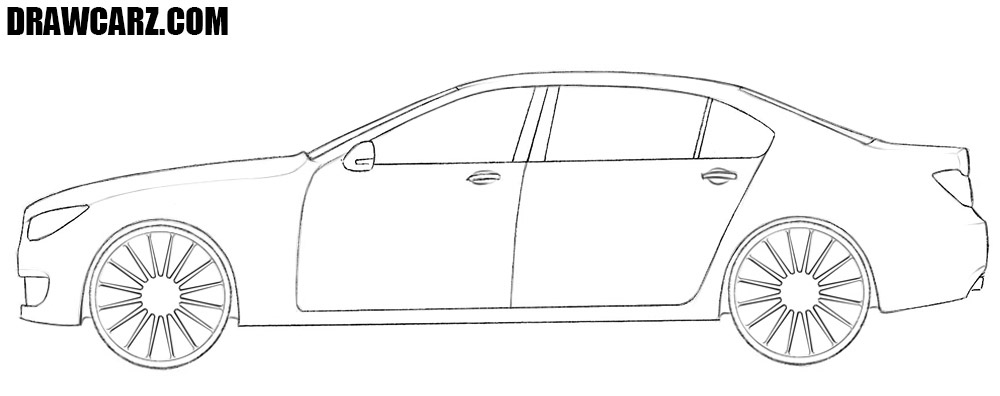 How to draw a car easy