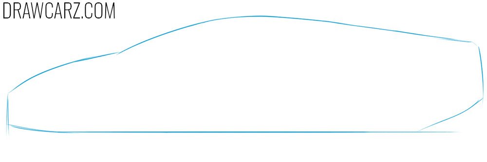how to draw a cartoon lamborghini from the side