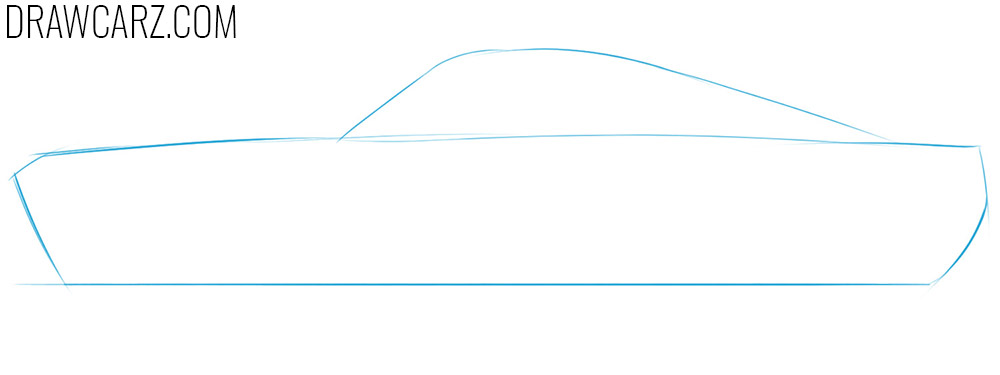 how to draw an old sports car