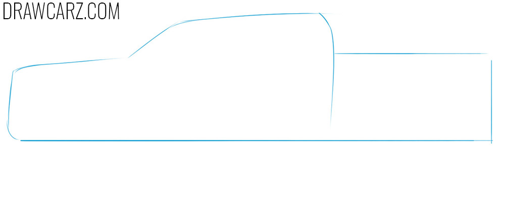 how to sketch a simple truck