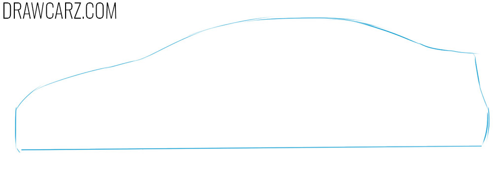 toyota corolla drawing tutorial