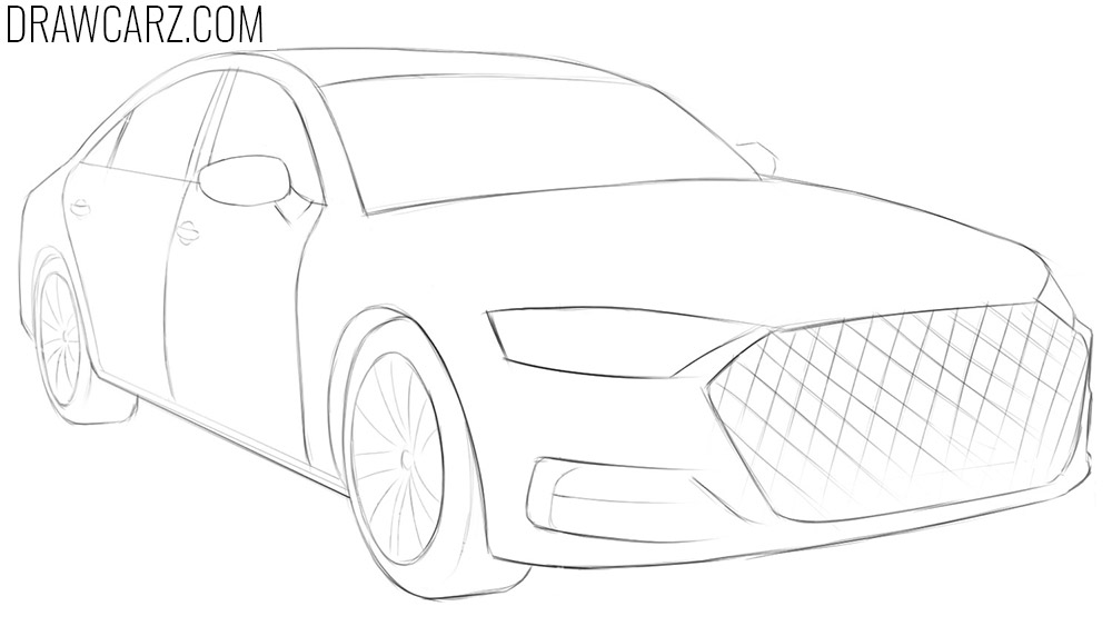 how to draw a car in perspective step by step