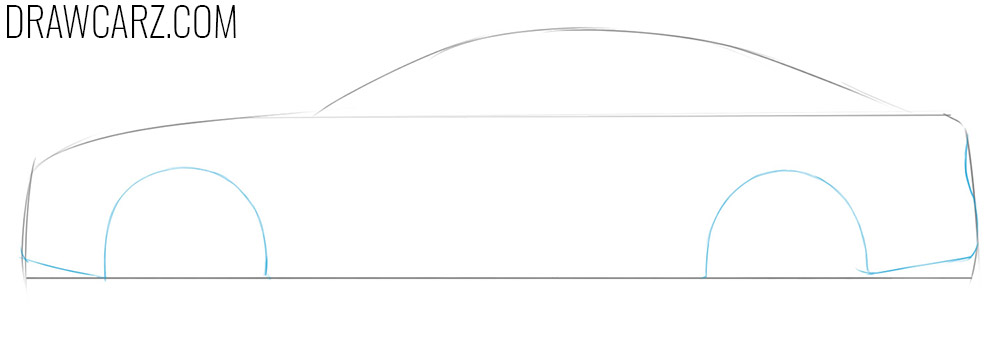 easy steps to draw a car